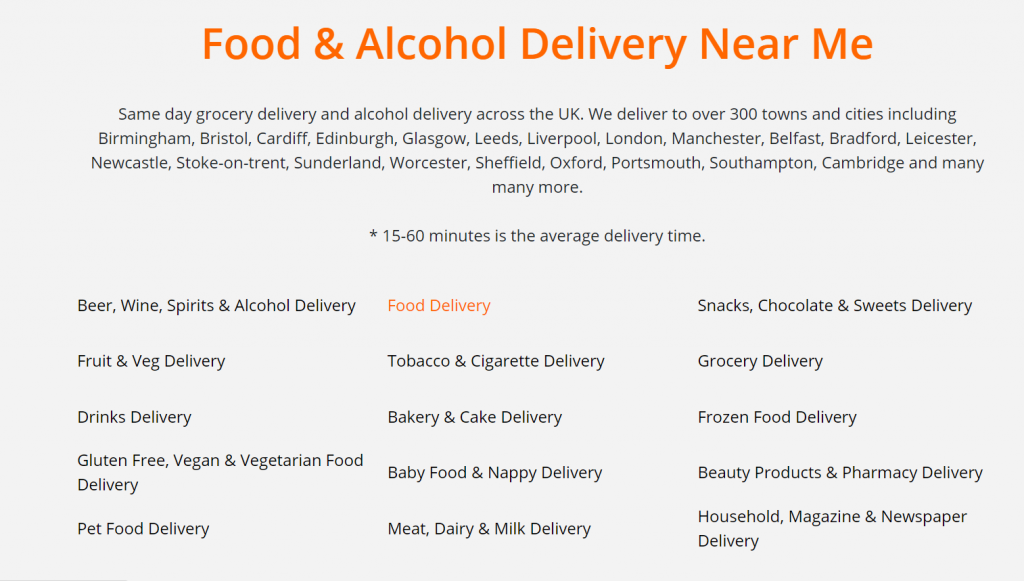Same day groceries delivery on Beelivery